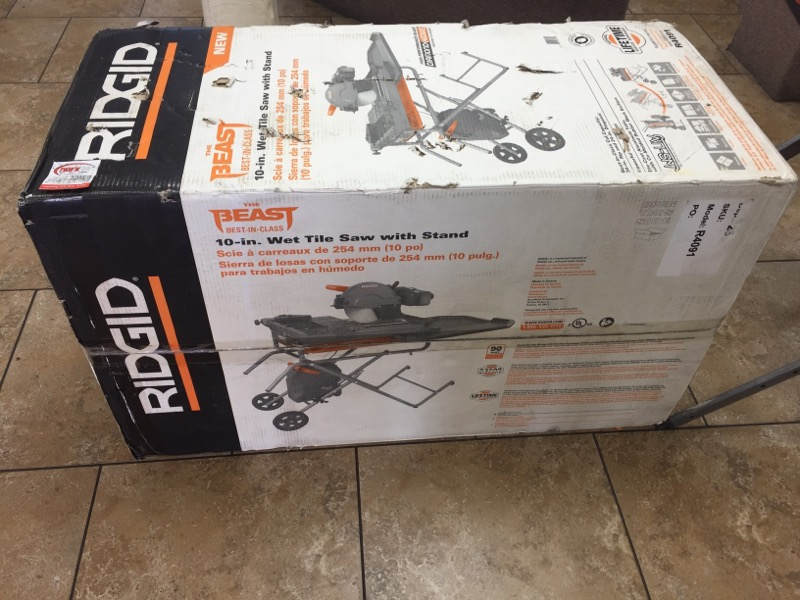 RIDGID TOOLS Tile Saw R4091