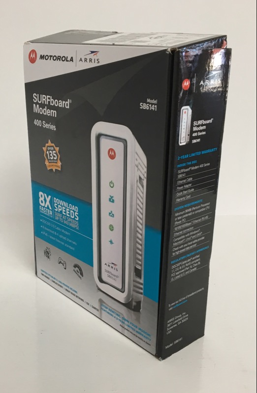 *NEW* ARRIS SURFboard SB6141 DOCSIS 3.0 Cable Modem White
