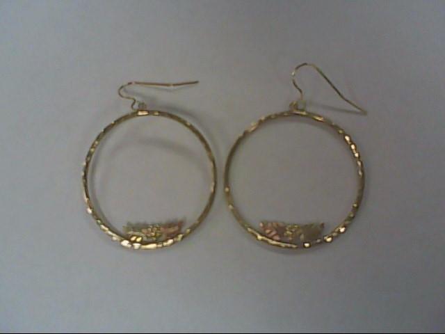 Gold Earrings 10K Tri-color Gold 1.7g