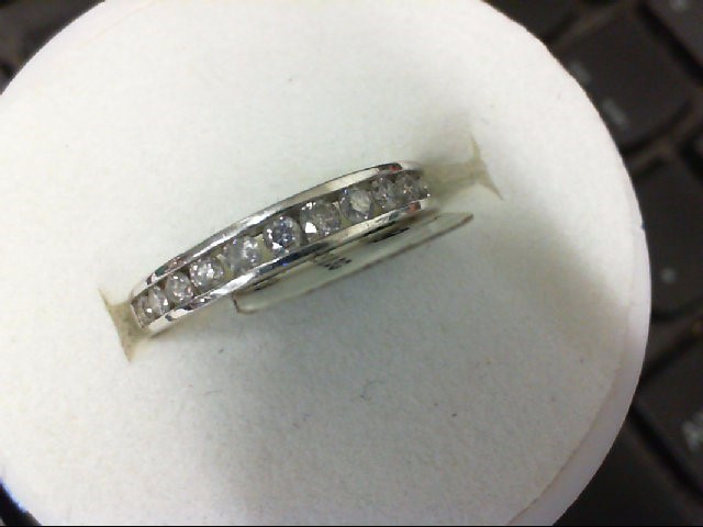 Lady's Silver-Diamond Ring 14 Diamonds .14 Carat T.W. 925 Silver 2.3g
