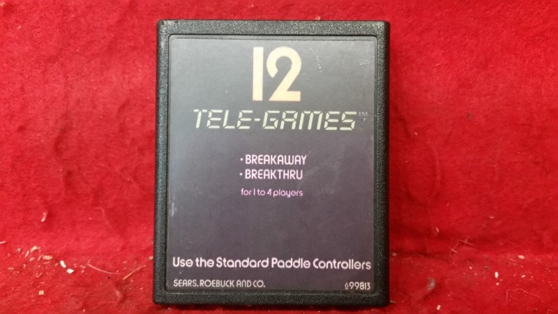 12 Tele-Games - Breakaway / Breakthru - Atari 2600
