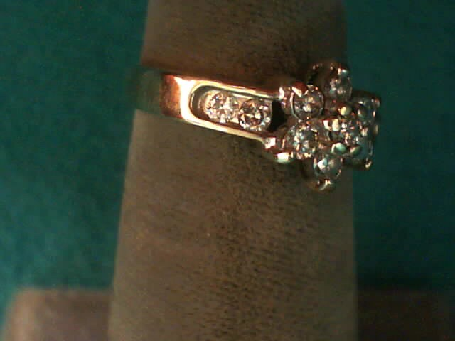 Lady's Diamond Fashion Ring 11 Diamonds .39 Carat T.W. 10K Yellow Gold 1.3dwt