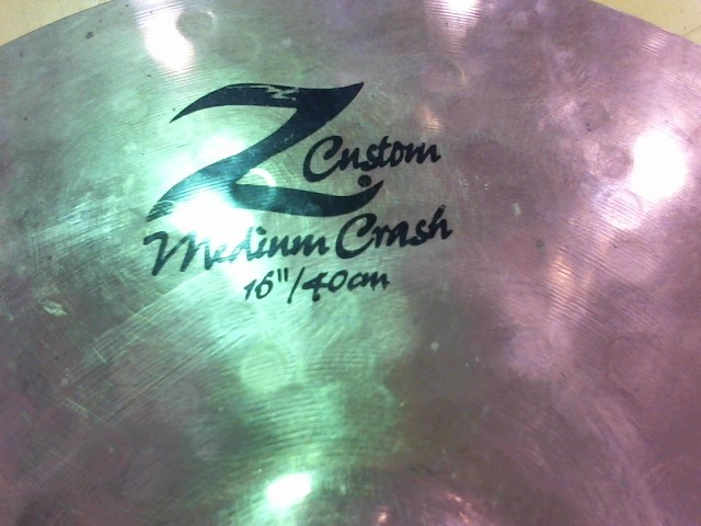 "ZILDJIAN Cymbal 16"" Z CUSTOM MEDIUM CRASH"