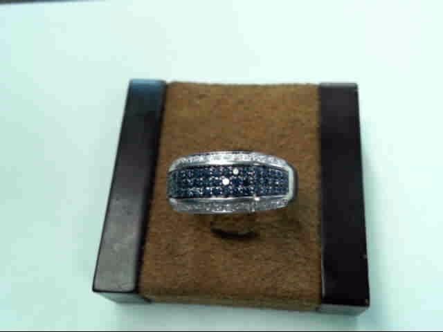 Gent's Diamond Cluster Ring 83 Diamonds .83 Carat T.W. 10K White Gold 4.8dwt