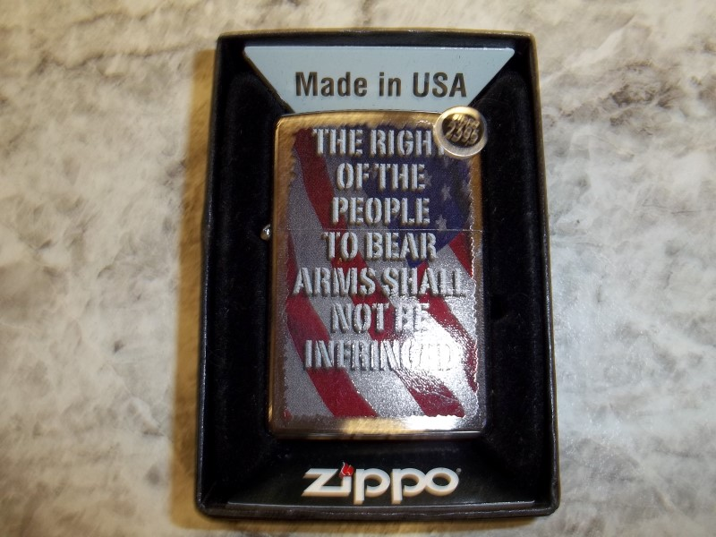 ZIPPO RIGHT TO BEAR ARMS LIGHTER