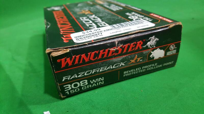 Winchester Supreme Elite™ .308 Winchester 150-Grain Razorback XT Rifle Ammunitio
