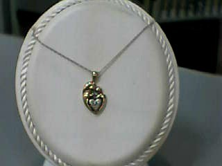 Diamond Necklace .01 CT. 10K Yellow Gold 1.2dwt