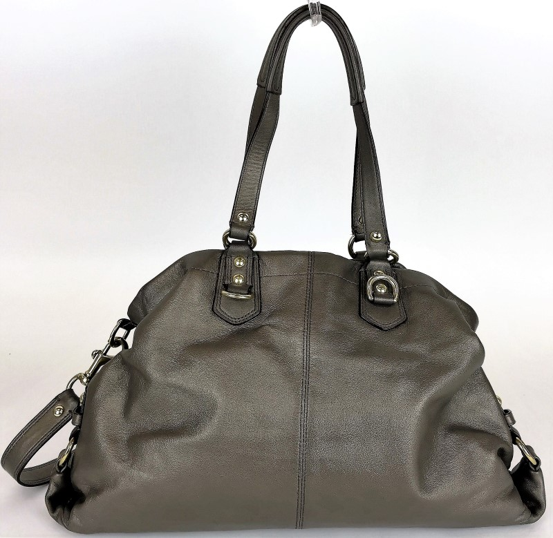 COACH F15513 ASHLEY CARRYALL METALLIC SHOULDER BAG