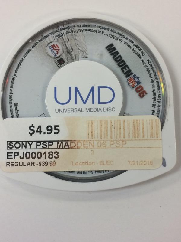 SONY Sony PSP Game MADDEN 06 PSP