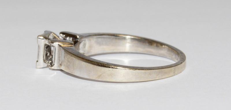 Lady's Diamond Cluster Ring 10 Diamonds .20 Carat T.W. 14K White Gold 5.2g