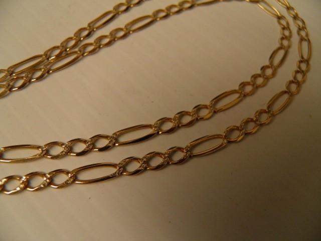 Gold Figaro Chain 10K Yellow Gold 8.2g