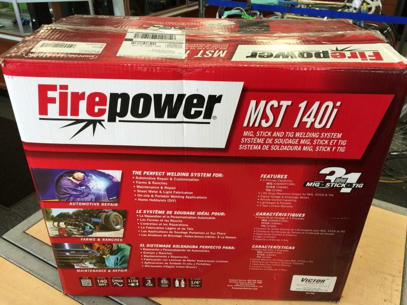 Firepower 1444-0870 MST 140i 3-in-1 Mig, Stick & Tig Welding System