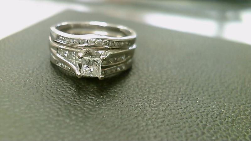 Lady's Diamond Wedding Set 33 Diamonds .91 Carat T.W. 14K White Gold 6.8g