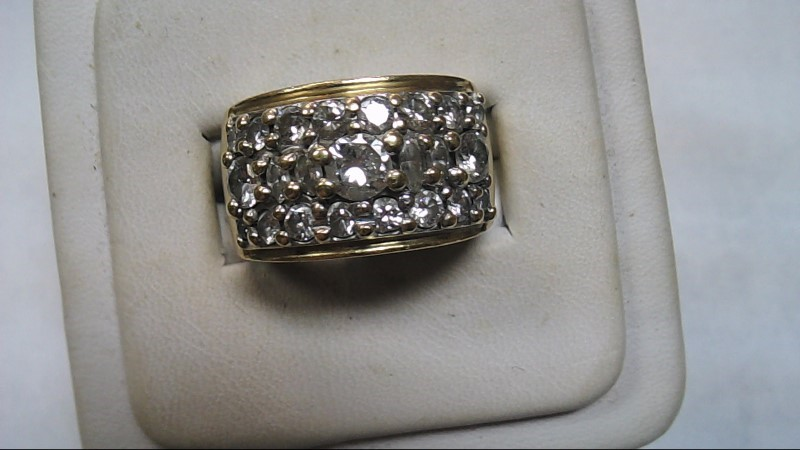 Gent's Diamond Cluster Ring 23 Diamonds 1.57 Carat T.W. 14K Yellow Gold 12.1g