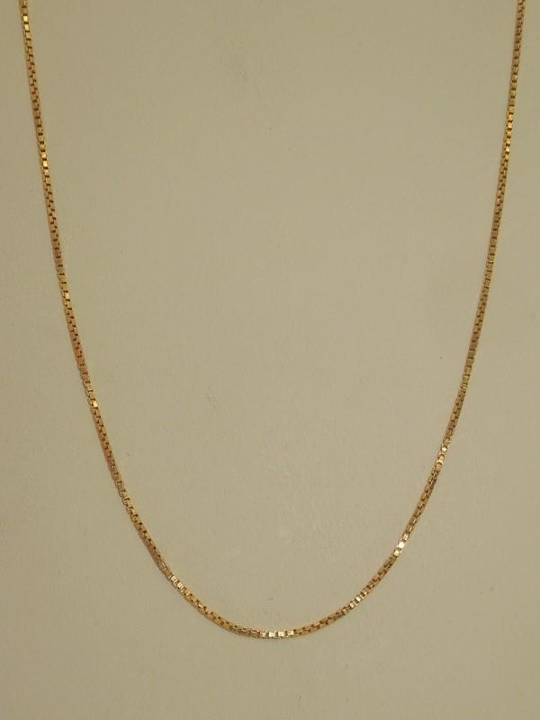 "24"" Gold Box Chain 14K Yellow Gold 3.9g"