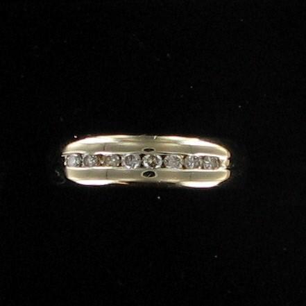 Gent's Diamond Fashion Ring 8 Diamonds .24 Carat T.W. 14K Yellow Gold 4.1dwt