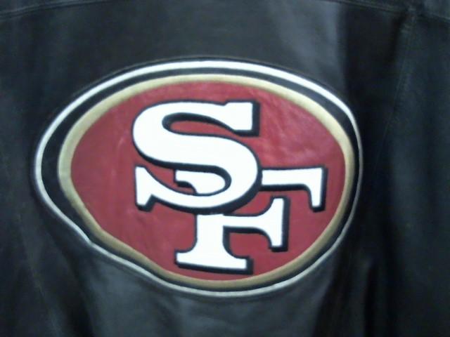 CARL BANKS Coat/Jacket 49ERS LEATHER JACKET