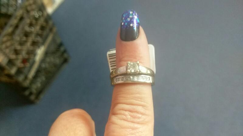 Lady's Diamond Wedding Set 10 Diamonds .49 Carat T.W. 14K White Gold 7.6g