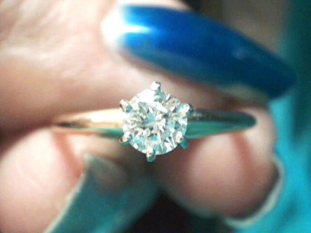 Lady's Diamond Engagement Ring .25 CT. 10K Yellow Gold 1.2dwt