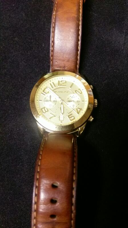 Michael Kors MK2251 Champagne Dial Brown Leather band