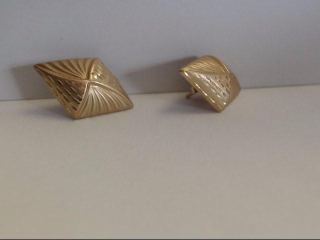 Gold Earrings 10K Yellow Gold 0.63g