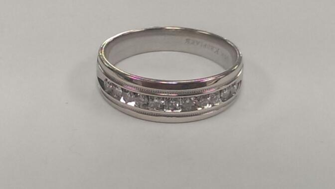 Gent's Diamond Fashion Ring 11 Diamonds .55 Carat T.W. 14K White Gold 6.2g