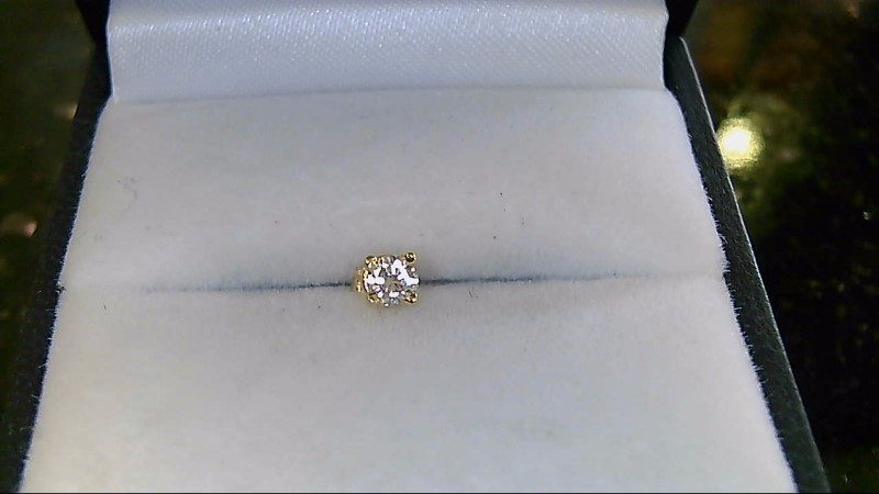Gold-Diamond Earrings .12 CT. 14K Yellow Gold 0.03g