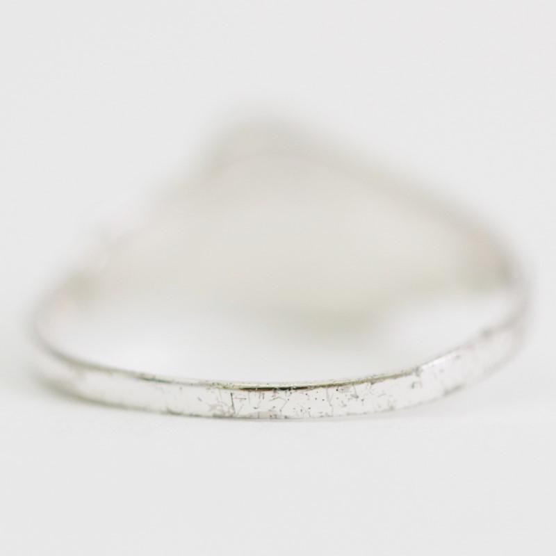 Women's Twisted Sterling Silver Bezel & Oval Cut Onyx Ring Size 8