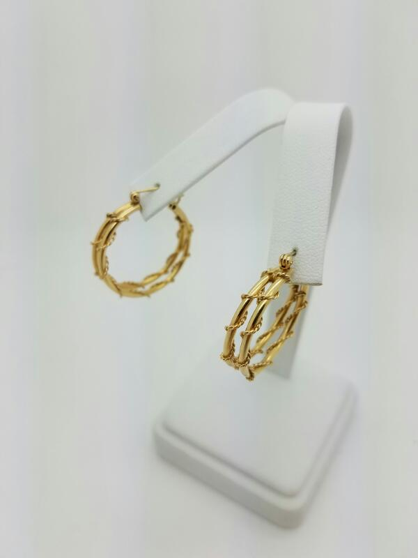 FASHION Gold Earrings 14K Yellow Gold 2.8dwt