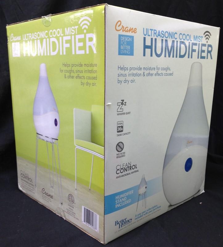 Crane smartDROP Ultrasonic Cool Mist Humidifier White (EE-5303W)