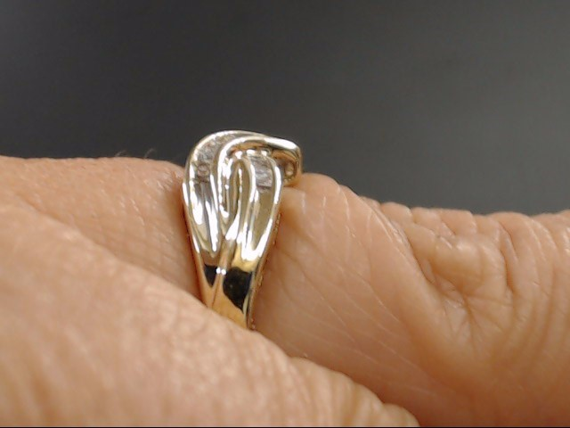 ESTATE DIAMOND CLUSTER ANNIVERSARY RING BAND SOLID 10K GOLD SIZE 7