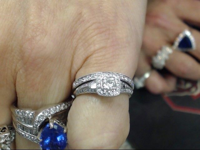 Lady's Diamond Wedding Set 71 Diamonds .85 Carat T.W. 14K Yellow Gold 2.3dwt