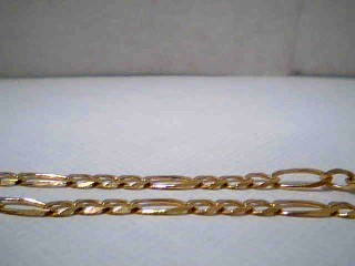 "13"" Gold Figaro Chain 14K Yellow Gold 4.4g"