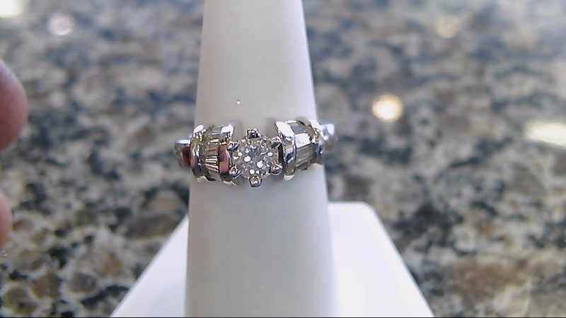 Lady's Platinum-Diamond Ring Guard 9 Diamonds .53 Carat T.W. 950 Platinum 9.8g