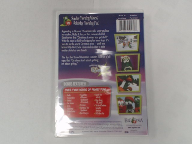 DVD MOVIE DVD VEGGIETALES-THE TOY THAT SAVED CHRISTMAS (2002)