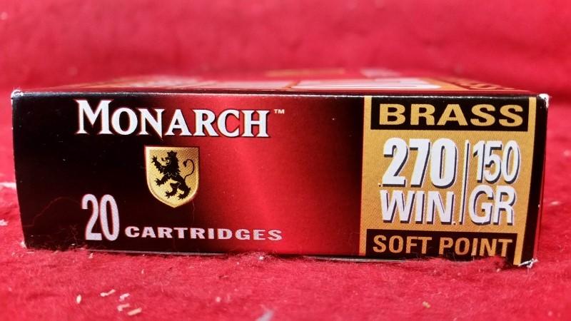 Monarch 270win 150gr Brass Soft Point