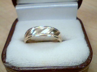 Gent's Gold Wedding Band 14K Yellow Gold 6.4g Size:9