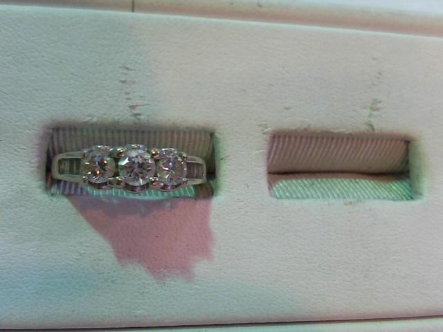Lady's Gold-Diamond Anniversary Ring 17 Diamonds .75 Carat T.W. 14K White Gold