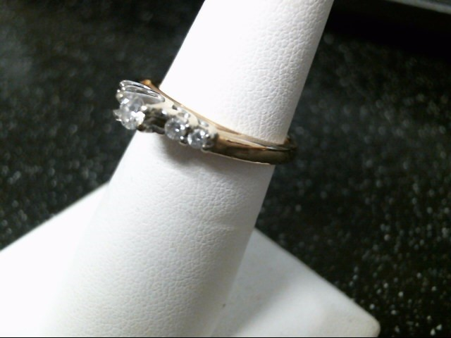 Lady's Diamond Engagement Ring 5 Diamonds .27 Carat T.W. 14K 2 Tone Gold 4.3g