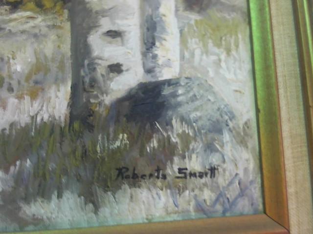 "ROBERTA SMARTT APPROX 14X18 ""SNOW BASIN"" UTAH PAINTING"