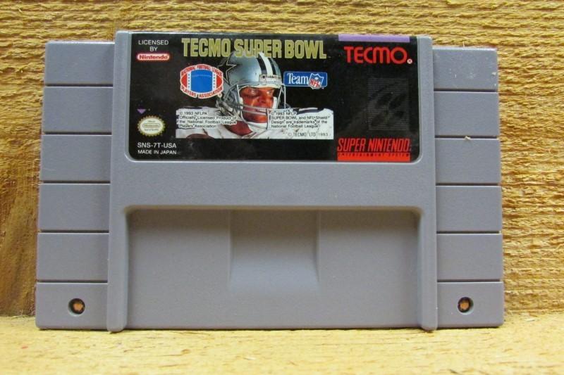 NINTENDO Nintendo SNES Game TECMO SUPER BOWL