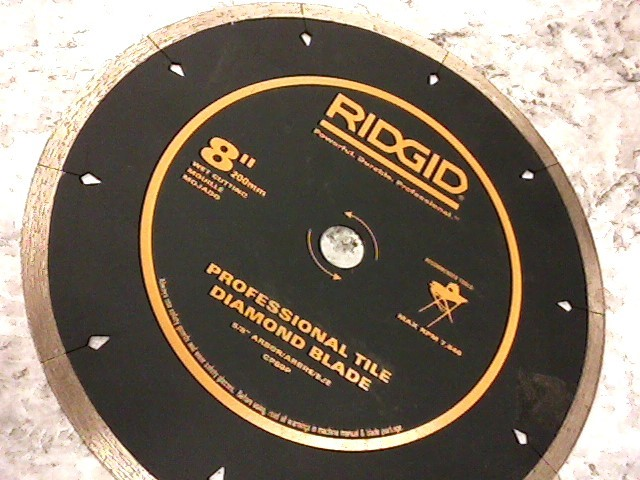"RIDGID 8"" TILE DIAMOND BLADE"