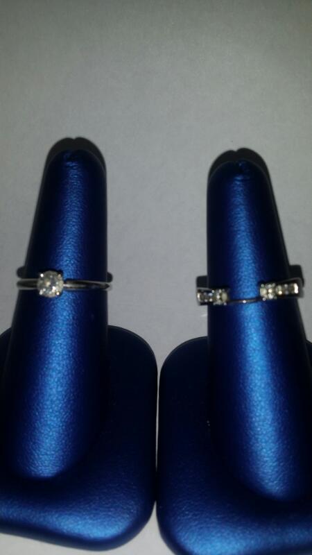 Lady's Diamond Wedding Set 9 Diamonds .60 Carat T.W. 14K White Gold 4.4g