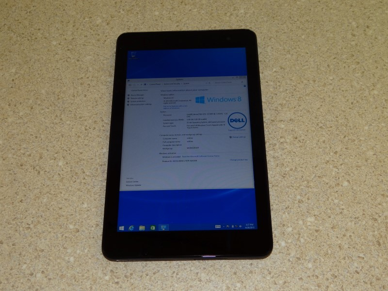 DELL VENUE 8 PRO TABLET T01D, Windows 8, 2GB RAM, 32GB HD
