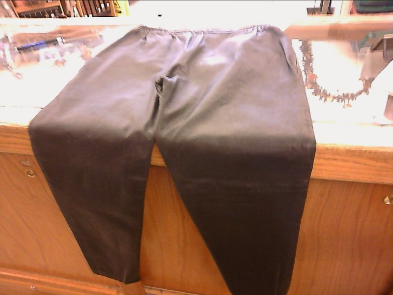 Fingerhut Ladies Fashion Lightweight Black Leather Pants, Size 14