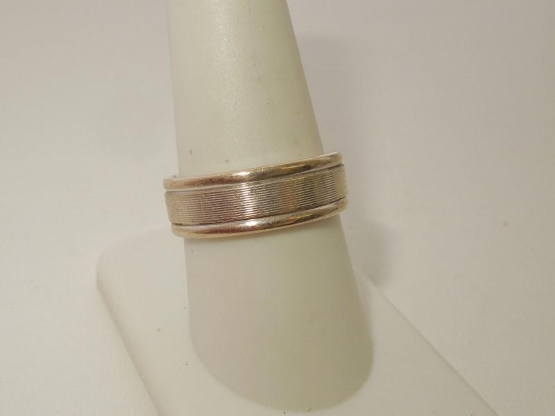 Gent's Gold Ring 14K White Gold 8.8g