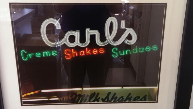 FREDERICKSBURG CARL'S SHAKES STORE FRONT AND CONE PICTURES FRAMED