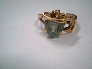 Blue Stone Lady's Stone Ring 10K Rose Gold 3g Size:6.3