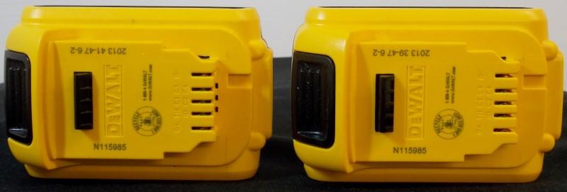 DEWALT 20V MAX XR LITHIUM ION BATTERIES DCB203 (2 PACK)