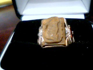 Brown Stone Gent's Stone Ring 10K Yellow Gold 5.2g